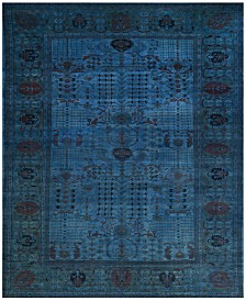 Closeout Macy S Fine Rug Gallery One Of A Kind Overdyed Zeigler K323198 Light Blue 12