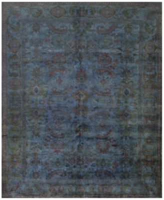 Macyu0027s Fine Rug Gallery One Of A Kind Overdyed Zeigler K571078 Blue 8u0027