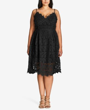 Image of City Chic Plus Size Trendy So Fancy Lace Dress