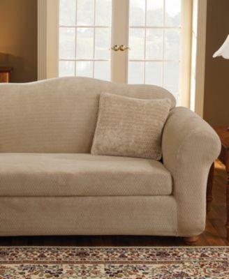 Stretch Royal Diamond 2-Piece Chair Slipcover
