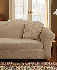 Sure Fit Stretch Royal Diamond 2-Piece Loveseat Slipcover