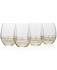 Electric Boulevard 4-Pc. Stemless Wine Glass Set