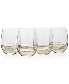 Electric Boulevard 4-Pc. Stemless Wine Glass Set