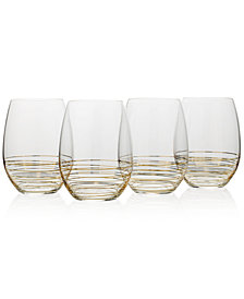 Mikasa Electric Boulevard 4-Pc. Stemless Wine Glass Set