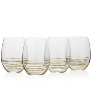 Mikasa Electric Boulevard 4Pc Stemless Wine Glass Set