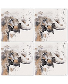 Elephant 4-Pc. Occasions Coaster Set