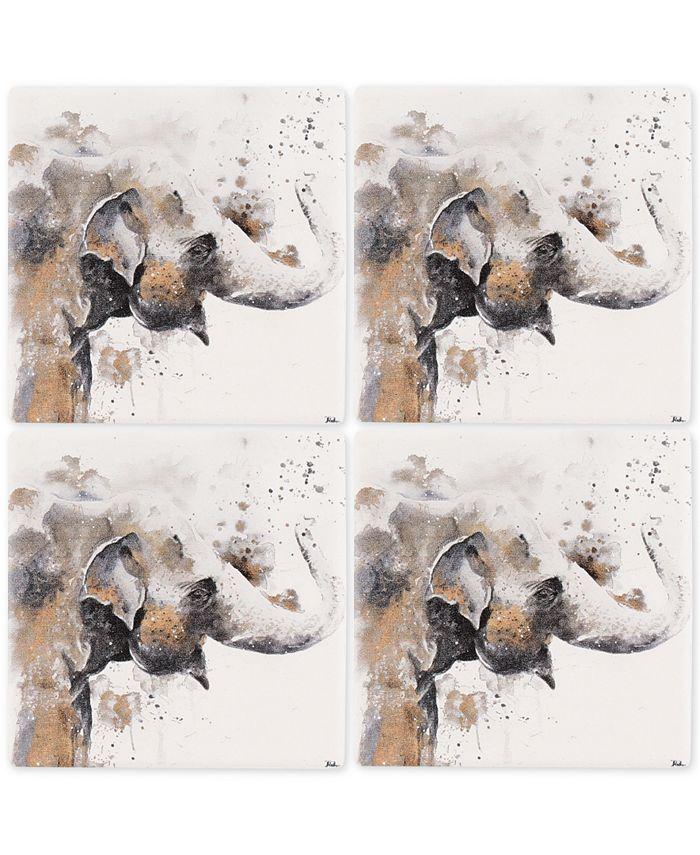 Thirstystone - Elephant 4-Pc. Occasions Coaster Set