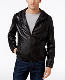 Men's Leather Bomber Jacket: Shop Men's Leather Bomber Jacket - Macy's