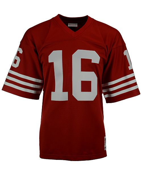 new style 1733f 1a1d7 Men's Joe Montana San Francisco 49ers Replica Throwback Jersey