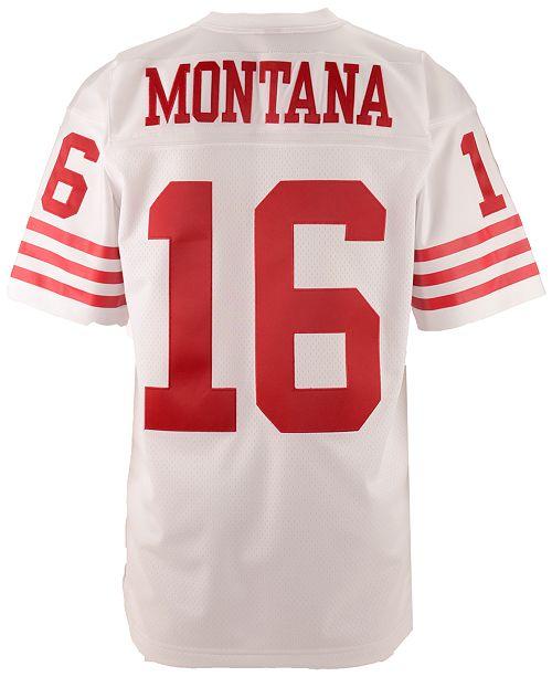 Mitchell & Ness Men's Joe Montana San Francisco 49ers Replica Throwback Jersey