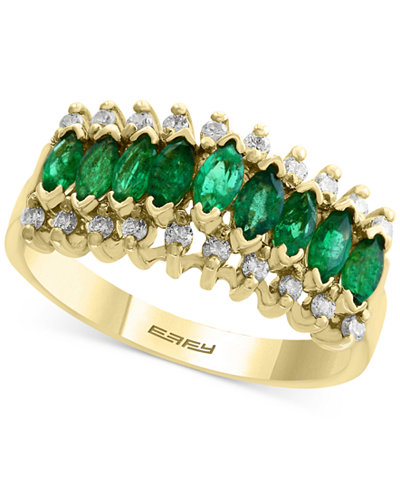 Brasilica by EFFY® Emerald (7/8 ct. t.w.) and Diamond (1/5 ct. t.w.) Ring in 14k Gold