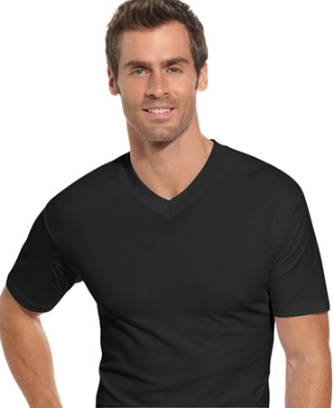 Alfani men 39 s underwear cotton spandex v neck t shirt 2 for Alfani mens shirt size chart