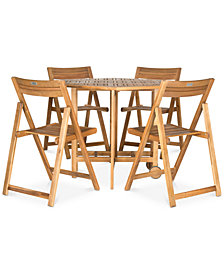 Manton Outdoor 5-Pc. Dining Set (Dining Table & 4 Chairs), Quick Ship