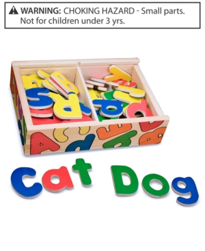 Melissa and Doug Toy Magnetic Wooden Alphabet