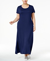 08bf81a85 Style   Co Plus Size T-Shirt Maxi Dress