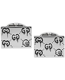 Gucci Men's Sterling Silver Aureco Black Ghost Cufflinks YBE45722400100U