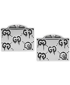 Gucci Men's Sterling Silver Aureco Black Ghost Cufflinks YBE45722400100U