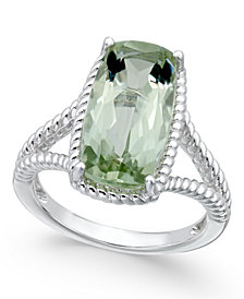 Green Amethyst Ring (5 ct. t.w.) in Sterling Silver