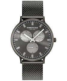 Kenneth Cole New York Men's Black Stainless Steel Mesh Bracelet Watch 46mm KC14946015