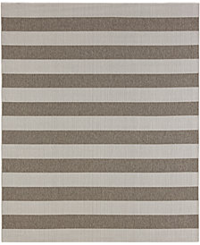 "Karastan Portico Riviera Stripe  5'3"" x 7'10"" Indoor/Outdoor Area Rug"