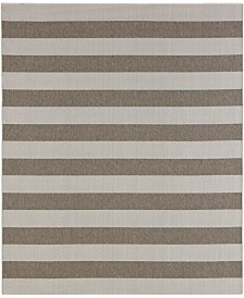 CLOSEOUT! Karastan Portico Riviera Stripe  8' x 10' Indoor/Outdoor Area Rug