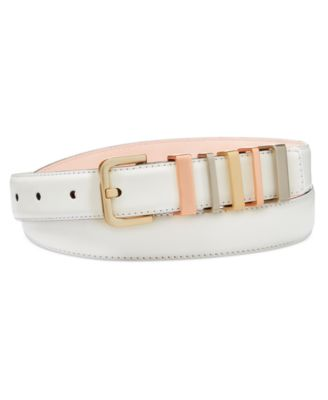 fendi designer belts ol0b  Calvin Klein Multi Keeper Leather Belt