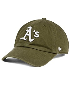 Oakland Athletics Olive White CLEAN UP Cap
