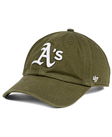 '47 Brand Oakland Athletics Olive White CLEAN UP Cap