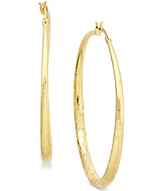 "Extra Large 2.3"" Textured Hoop Earrings, Created for Macy's"