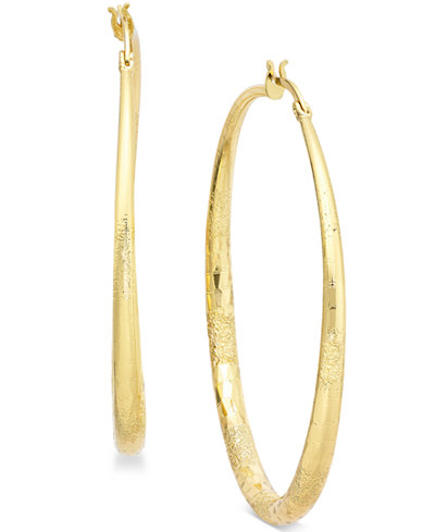 Thalia Sodi Textured Hoop Earrings, Created for Macy's