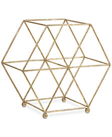 "Home Essentials 11"" Gold-Tone Wine Rack"