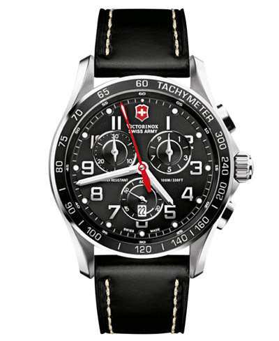 Victorinox swiss army men 39 s chronograph classic xls black for Do pawn shops buy stainless steel jewelry
