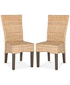 Burgin Set of 2 Wicker Dining Chairs, Quick Ship