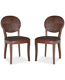Montie Set of 2 Dining Chairs, Quick Ship