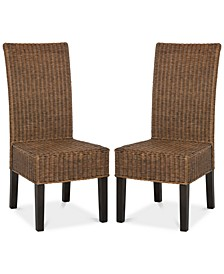 Shanley Set of 2 Wicker Dining Chairs