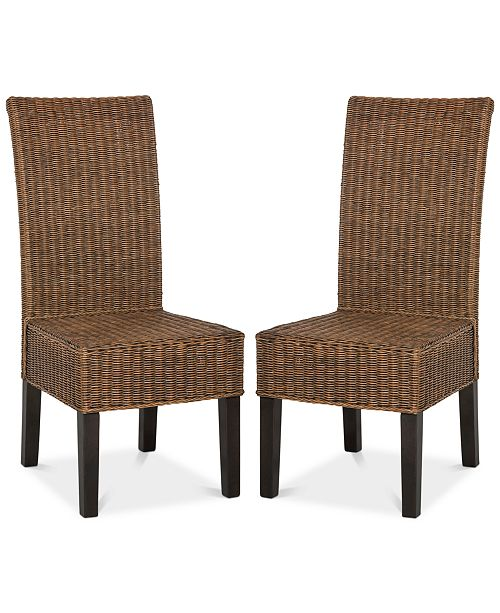 Safavieh Shanley Set of 2 Wicker Dining Chairs
