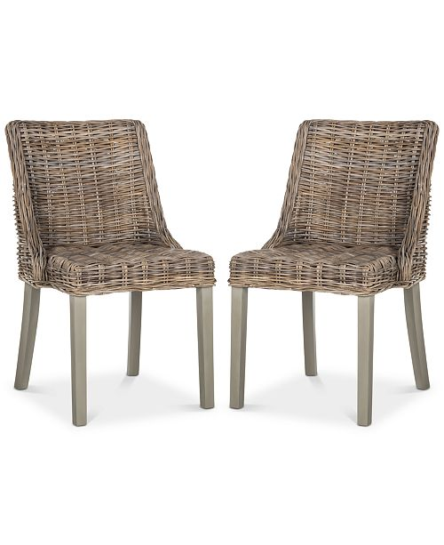 Safavieh Gafney Set of 2 Dining Chairs, Quick Ship