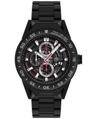 Modular Connected 2.0 Men's Swiss Black Ceramic Bracelet Smart Watch 45mm