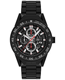 TAG Heuer Modular Connected 2.0 Men's Swiss Black Ceramic Bracelet Smart Watch 45mm SBF8A8013.80BH0933