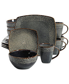 Gibson Elite Matisse Blue 16-Piece Dinnerware Set