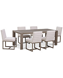 CLOSEOUT! Astor Dining Furniture Set, 7-Pc. Set (Dining Table & 6 Side Chairs)