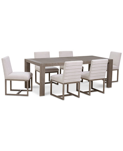Astor Dining Furniture Set, 7-Pc. Set (Dining Table & 6 Side Chairs)