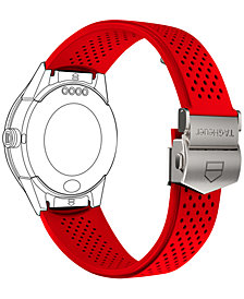 TAG Heuer Modular Connected 2.0 Red Perforated Rubber Smart Watch Strap 1FT6080