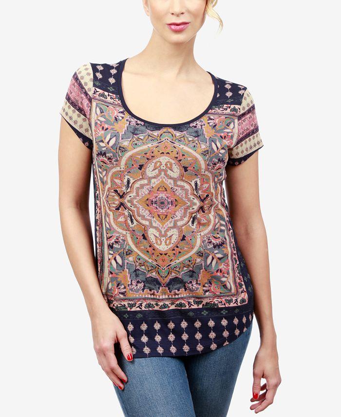 Lucky Brand - Printed Short-Sleeve T-Shirt