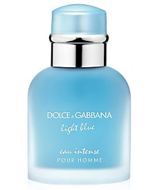 DOLCE&GABBANA Men's Light Blue Eau Intense Pour Homme Eau de Parfum Spray, 1.6 oz