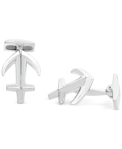 EFFY Collection EFFY® Men's Anchor Cuff Links in Sterling Silver