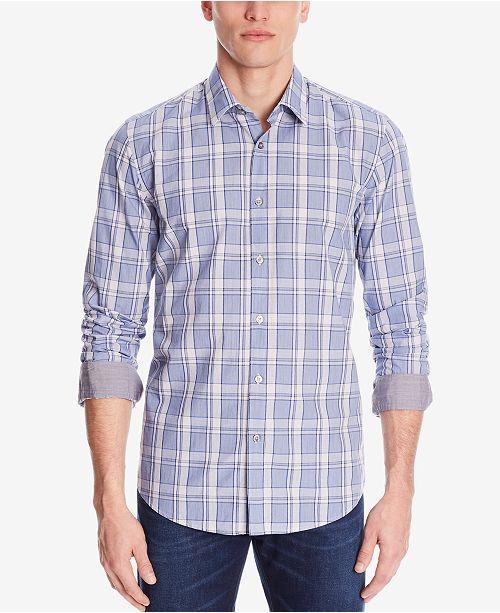 e3cf84ffc Hugo Boss BOSS Men's Regular/Classic-Fit Button-Down Cotton Shirt ...