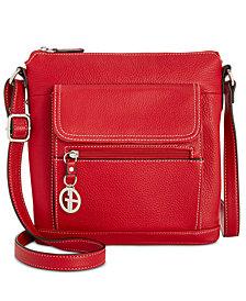 Giani Bernini Pebble Leather Venice Crossbody, Created for Macy's