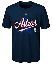 Majestic Houston Astros Game T-Shirt, Little Boys(4-7)