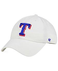 Texas Rangers White Clean Up Cap